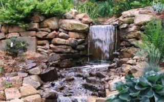 Как сделать на приусадебном участке искусственный водопад