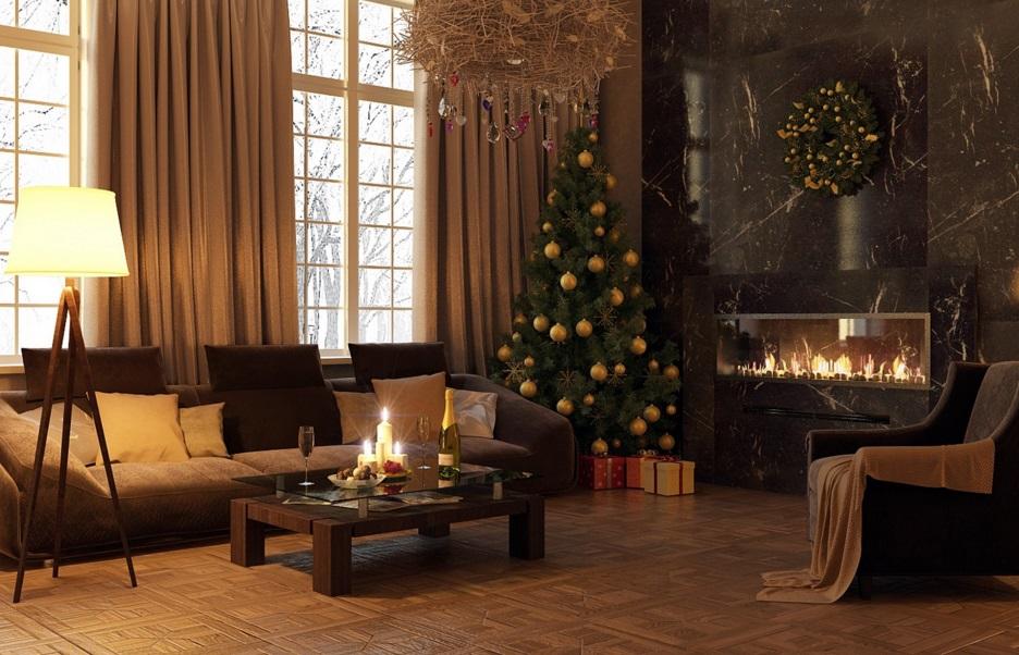 является дизайн дома к новому году фото торговых