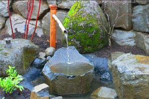 Японский стиль в ландшафтном дизайне фонтан