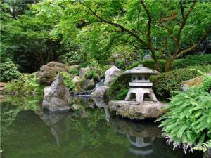 Ландшафтный дизайн в японском стиле, фонтаны