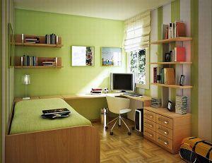 Интерьер зеленой спальни фото