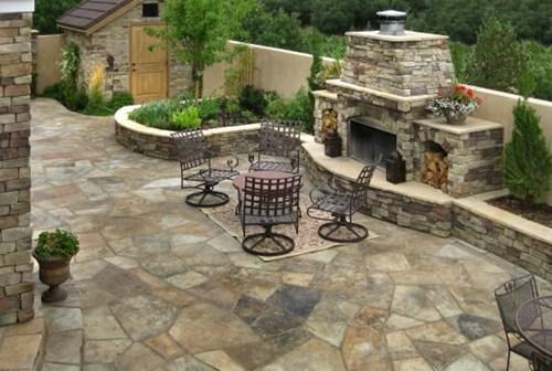 Дизайны из камня во дворе