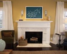 Стильный дизайн гостиных с камином