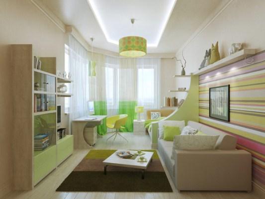 Детская комната зеленого цвета фото