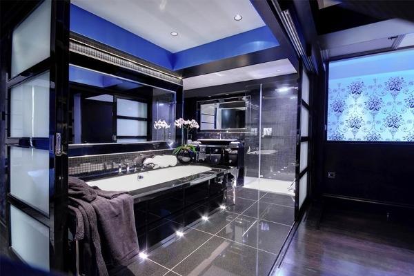 Синяя комната интерьер