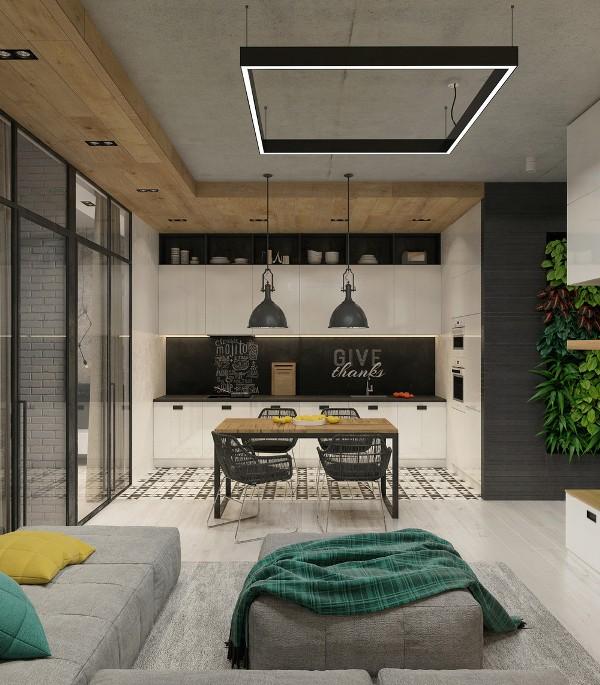 кухня в стиле лофт пищеблок с элементами эпатажа ваш надёжный дом