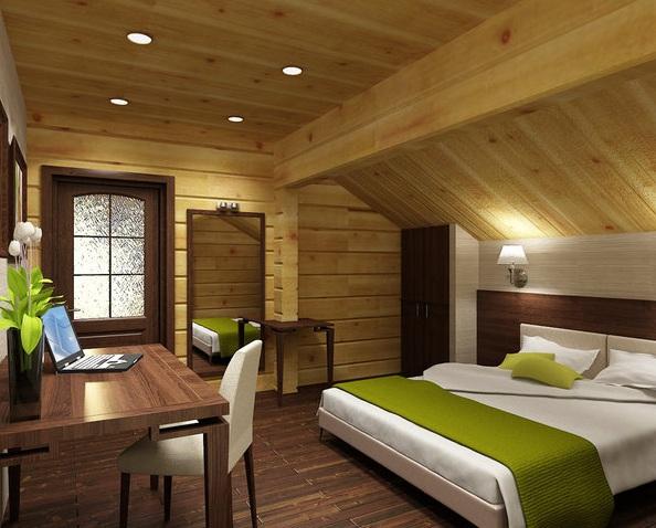 Дизайн мансарды фото спальни