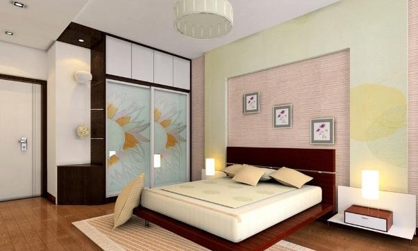 интерьер спальни простой фото