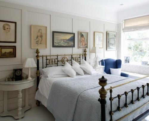 Дизайн в английском стиле спальни