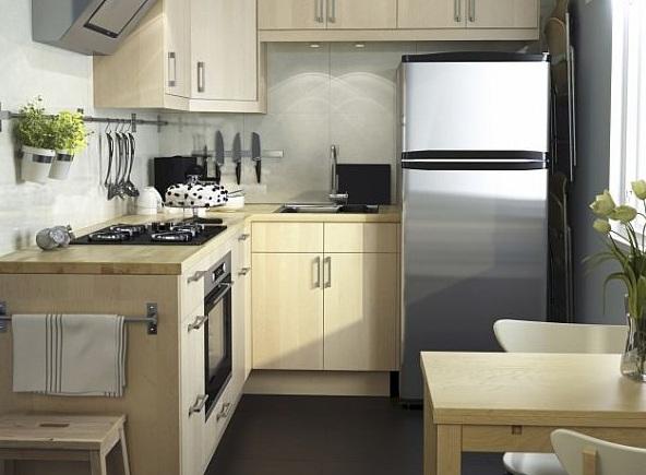 маленькая кухня. интерьер. фото