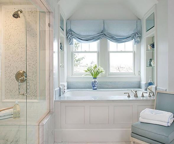 Bathroom window valances