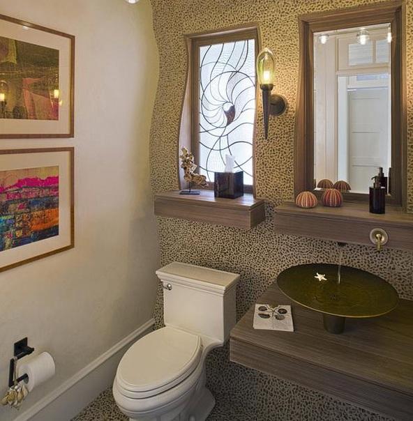 Ванна с окном дизайн фото в частном доме