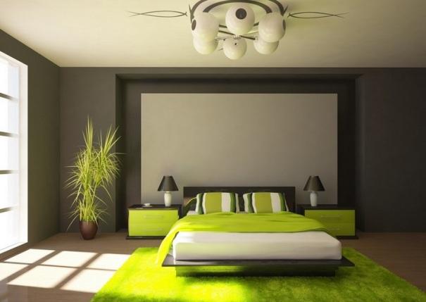 Дизайн спальни фото в зеленых тонах