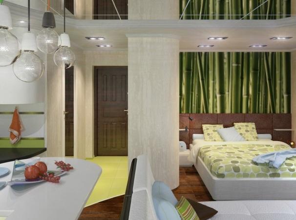 Дизайн студии 40 кв м