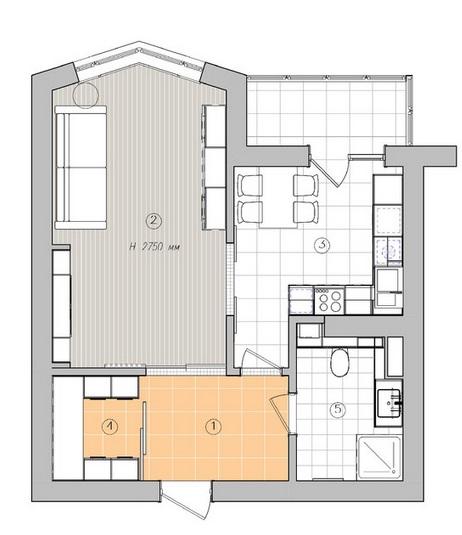планировка квартиры 40 кв м