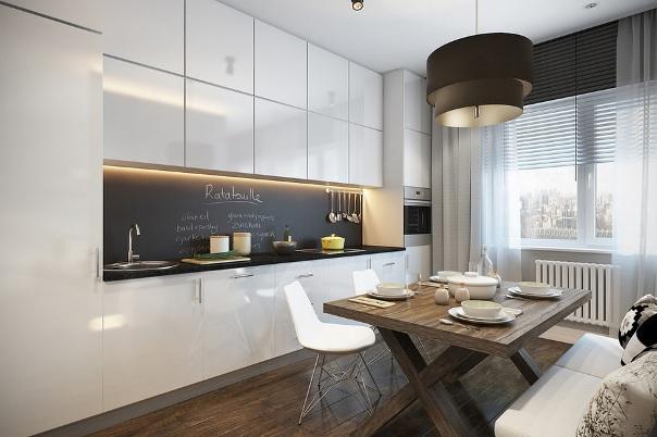 кухня интерьер в квартире студии