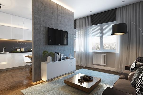 однокомнатные квартиры в стиле студия