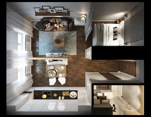 проекты планировки квартиры студии
