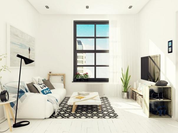 фото однокомнатной квартиры в скандинавском стиле