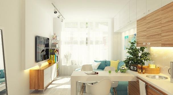 дизайн маленькой квартиры студии 30 кв м