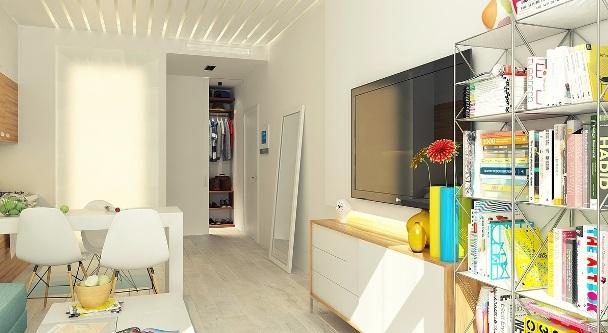 дизайнерский ремонт квартиры студии
