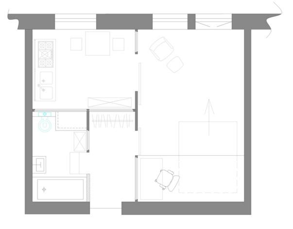 план квартиры студии 35 кв м