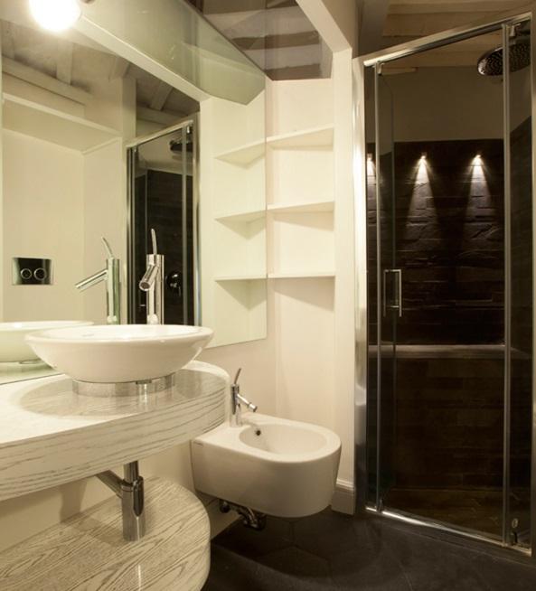 ванная в квартире студии