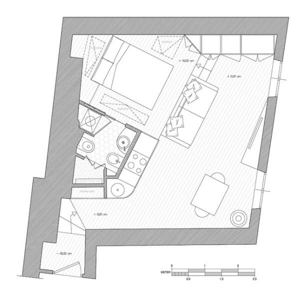 нестандартная планировка квартиры студии