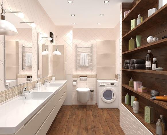 совещенная ванная в однокомнатной квартире