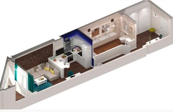 планировка нестандартной однокомнатной квартиры 35 кв м