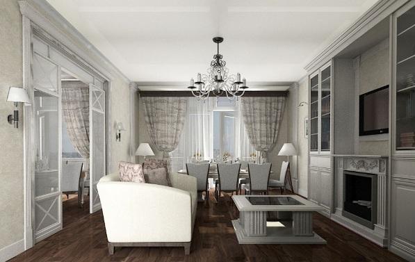 комната в стиле неоклассика