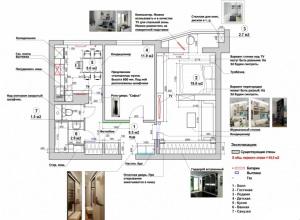 Планировка двухкомнатной квартиры 50 кв м фото