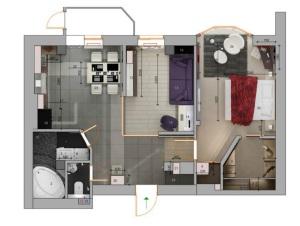 план двухкомнатной квартиры 50 кв м фото