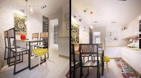 дизайн кухни в двухкомнатной квартире