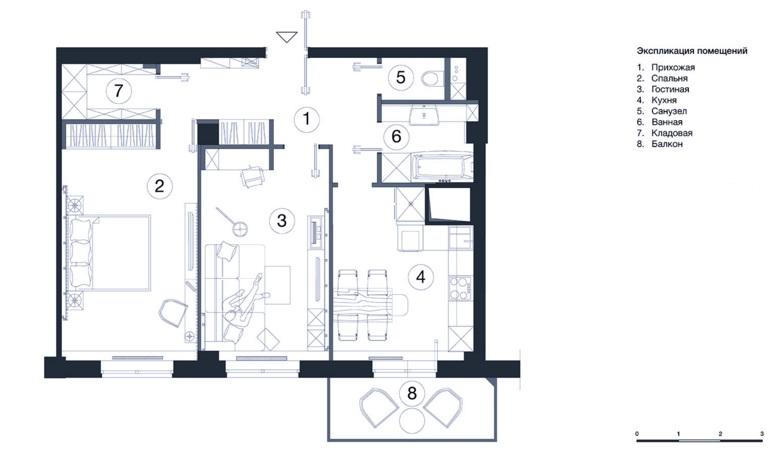 Бюджетный дизайн двухкомнатной хрущевки 45 кв м с