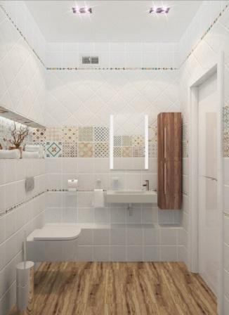 дизайн ванной комнаты в двухкомнатной квартире