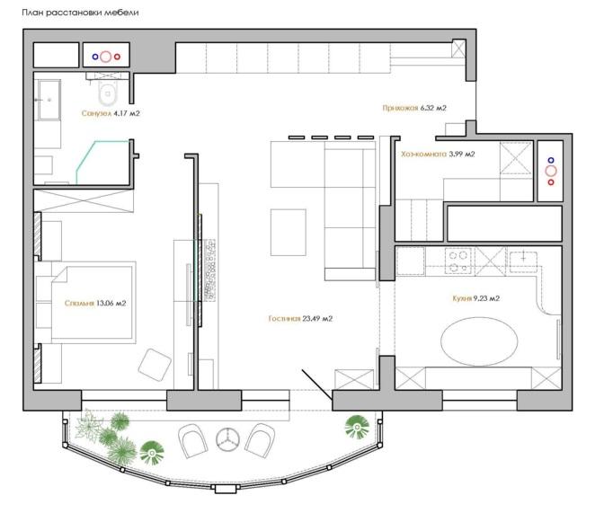 планировка двухкомнатной квартиры 60 кв м