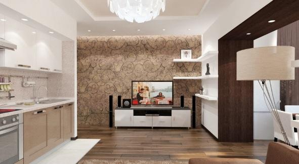 гостиная в двухкомнатной квартире