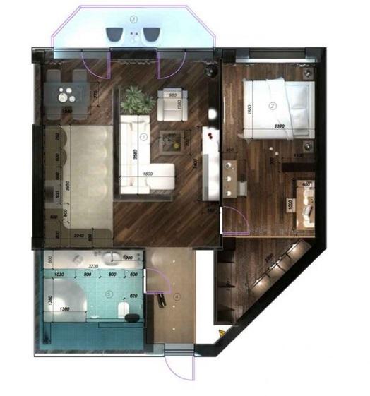 план двухкомнатной квартиры 60 кв м