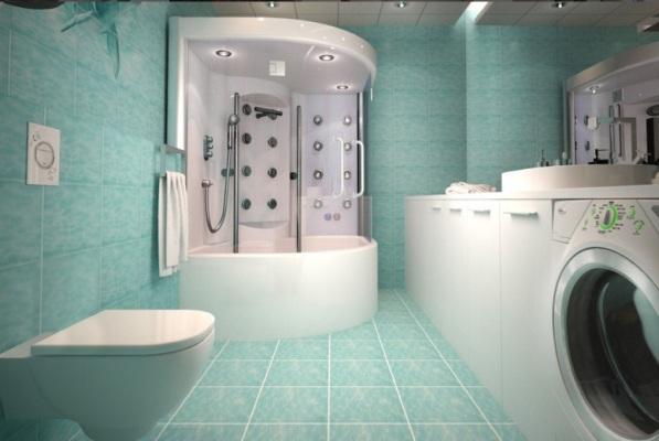 душевая кабинка в ванной