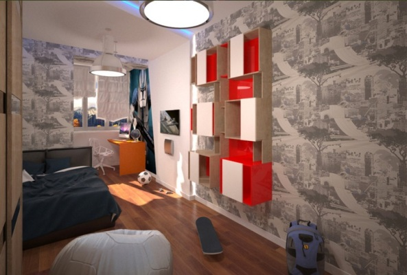 спальня подростка в двухкомнатной квартире