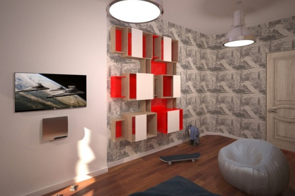 комната подростка в двухкомнатной квартире