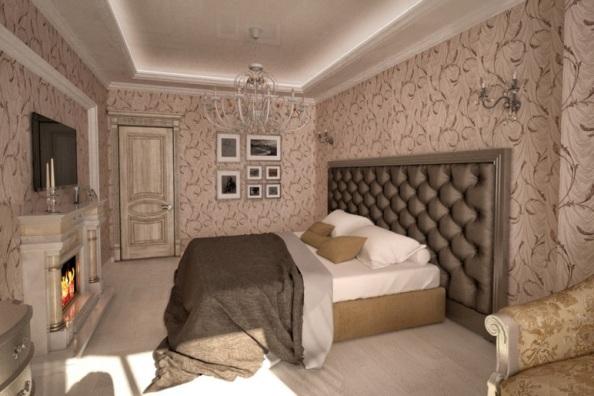 репродукции картин в интерьере спальни