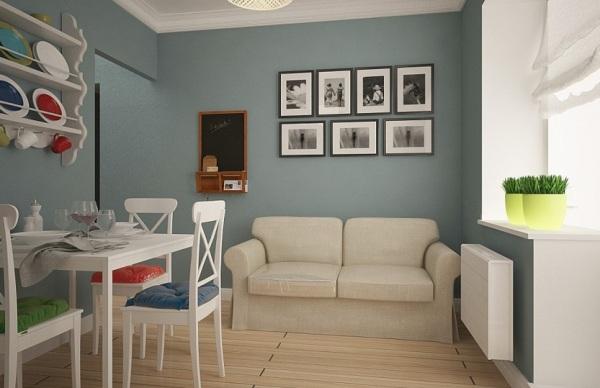 белый диван в столовой