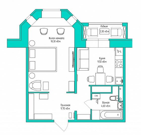 фото план 45 кв м
