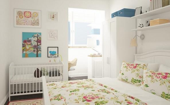 как расположить детскую кроватку в спальне