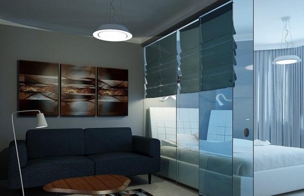 модульные картины над диваном
