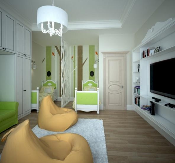 кресла пуфы в гостиной