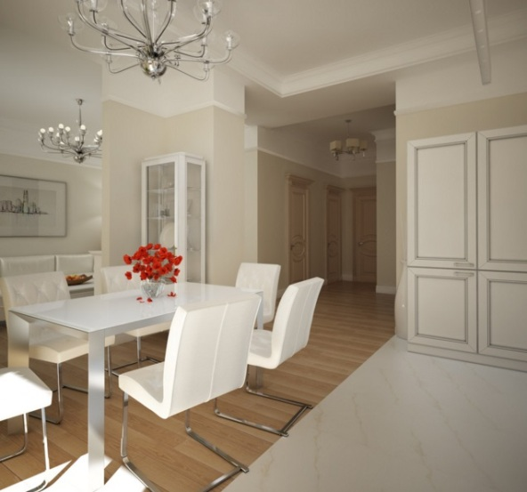 кухня столовая в двухкомнатной квартире
