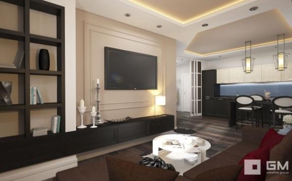Как расположить телевизор в гостиной